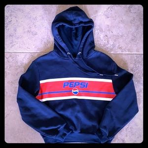 Pepsi Crop Sweatshirt